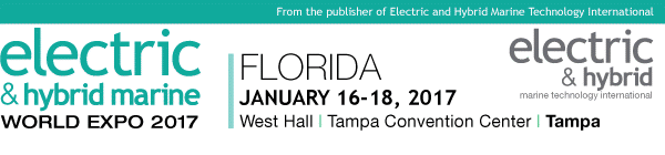 Electric & Hybrid Marine World Expo Florida - January 16 - 18, 2017 - West Hall, Tampa Convention Center, Tampa, Florida