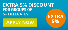 Extra 5% discount for groups of 5+