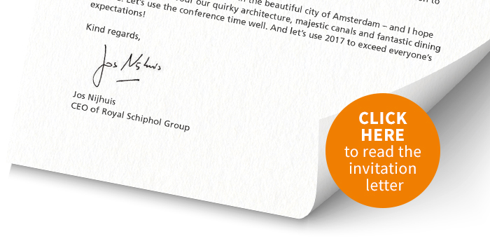 Invitation letter from amsterdam airport schiphols ceo to join gary warren vp planning development and environment metropolitan airports commission stopboris Image collections